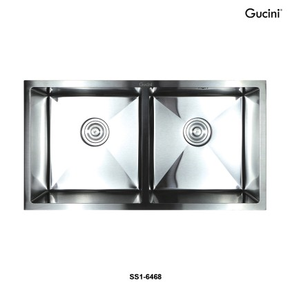 【Stainless Steel 201】SS1-6468 Double Bowls Kitchen Sink